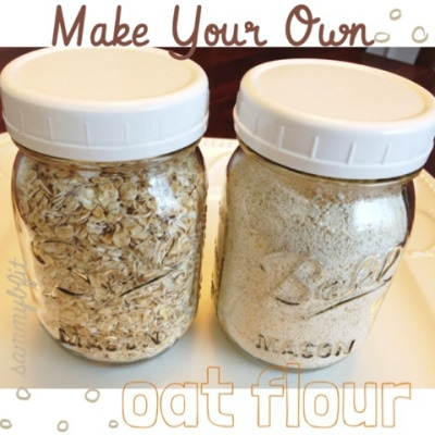 How To Make Oat Flour | https://withpeanutbutterontop.com