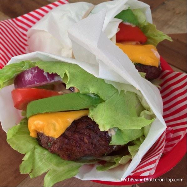 Chipotle Burger Lettuce Wrap | www.withpeanutbutterontop.com