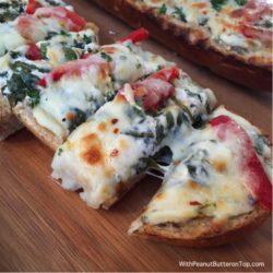 Spinach Dip Garlic Bread