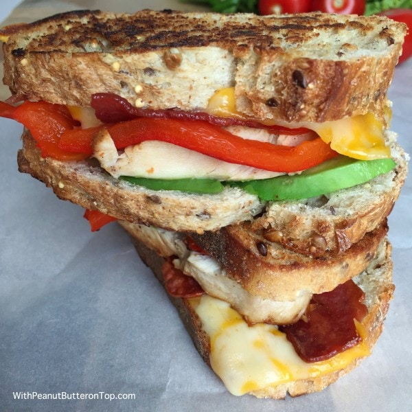 Chicken Bacon Avocado Grilled Cheese | www.withpeanutbutterontop.com