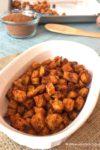 Easy Roasted Sweet Potato Bites | www.withpeanutbutterontop.com
