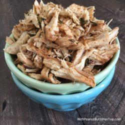 Mexican Shredded Crockpot Chicken | www.withpeanutbutterontop.com