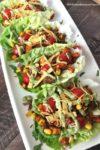 Southwest Style Sweet Potato Taco Lettuce Wraps | www.withpeanutbutterontop.com