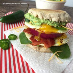 The Ultimate Guacamole Breakfast Sandwich   www.withpeanutbutterontop.com