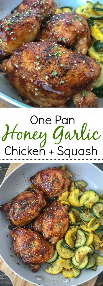 Honey Lime Garlic Chicken Thighs - easy, quick and bursting with flavor! #healthy #chickenthighs #honeylimegarlic #honey #garlic #onepan | https://withpeanutbutterontop.com