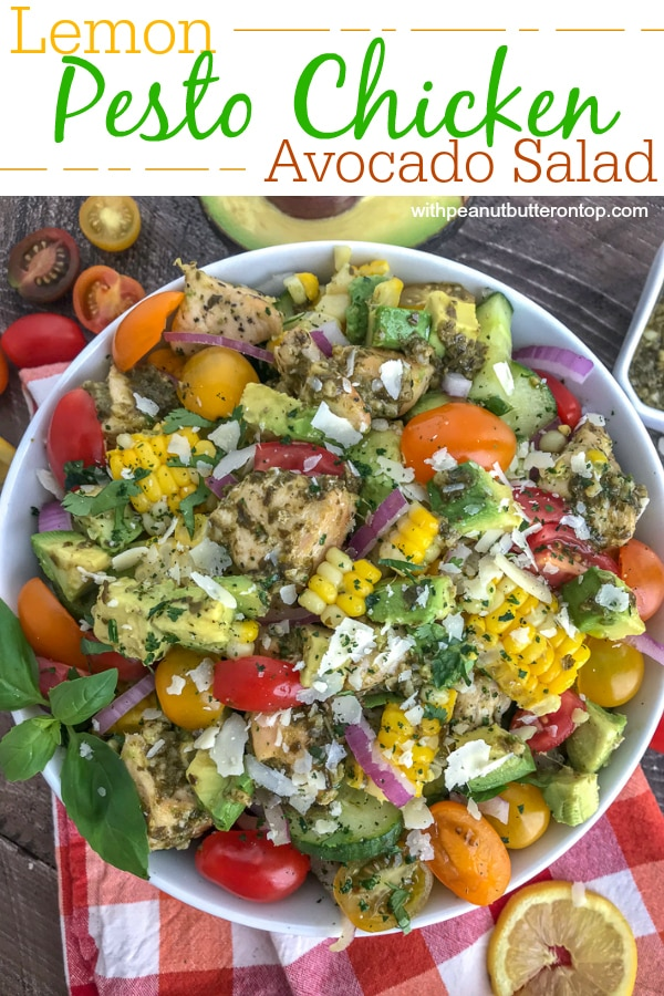 Add the avocado and parmesan cheese when you're going to serve this. The avocado turns quickly once cut. This salad is best when served fresh.