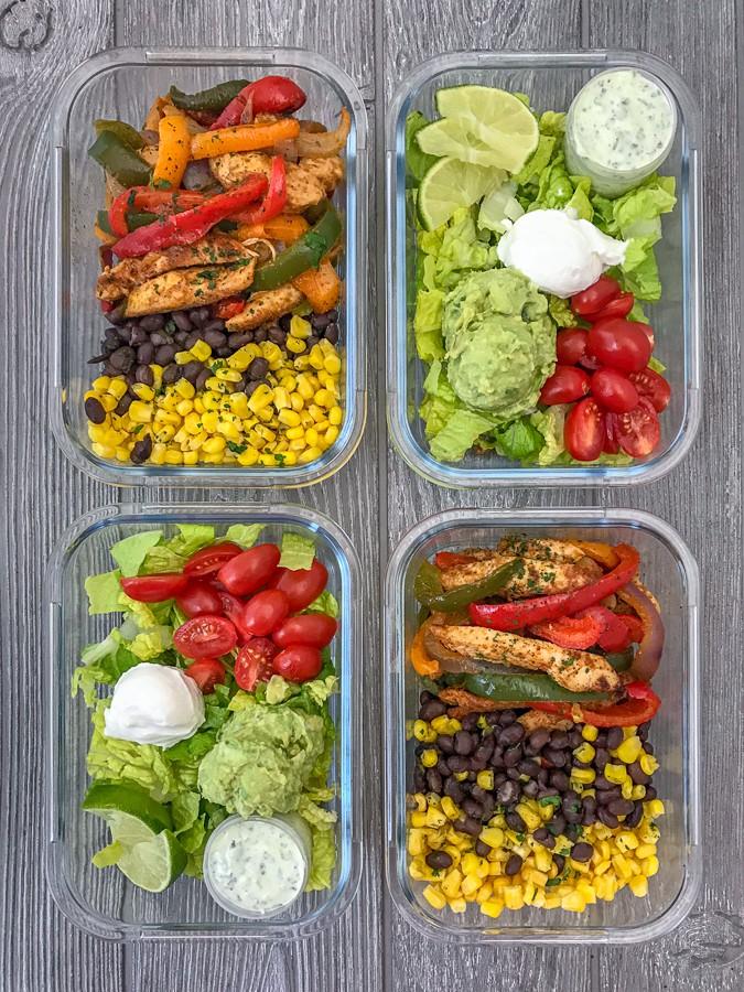 Fajita Bowl Meal Prep Healthy