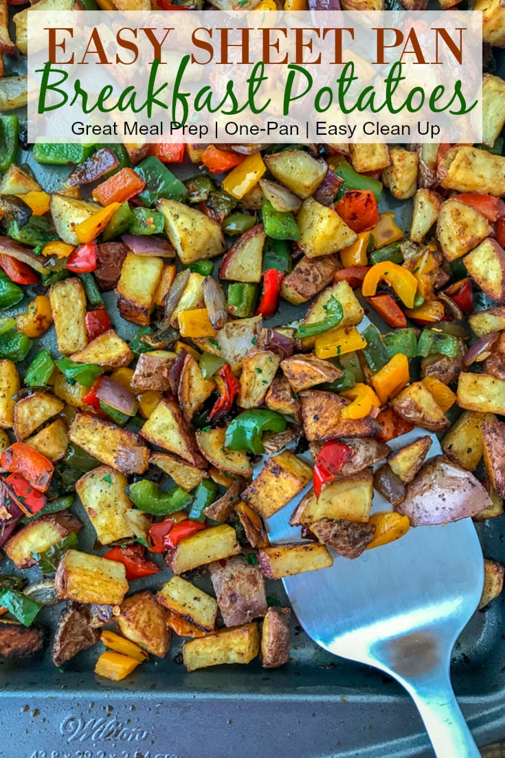 Easy Sheet Pan Breakfast Potatoes - the best and easiest way to make breakfast potatoes at home! Freezer-friendly and great for meal prepping! #breakfast #sheetpanrecipes #sheetpanmeals #sidedish #mealprep #freezerfriendly   https://withpeanutbutterontop.com