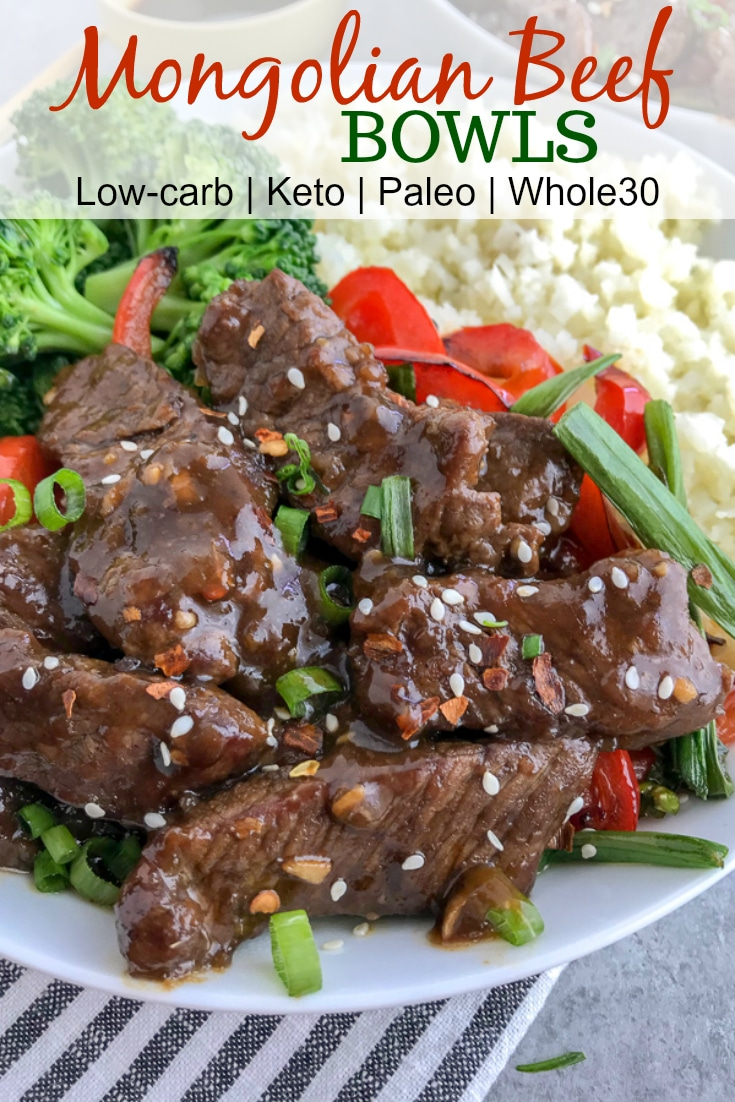 Better AND healthier than PF Chang's classic takeout dish! Full of flavor, but without the guilt! Super simple to make and guaranteed to wow your taste buds! #mongolianbeef #pfchangs #takeout #healthyrecipes #keto #lowcarb | https://withpeanutbutterontop.com